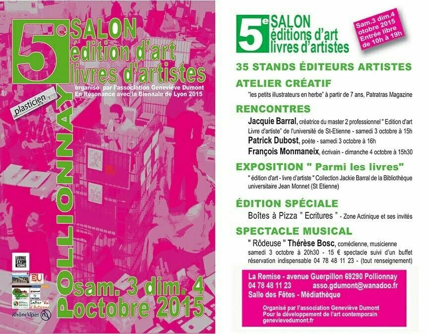 5eme_salon_edition_dart_et_livres_dartistes_Pollionnay_2015