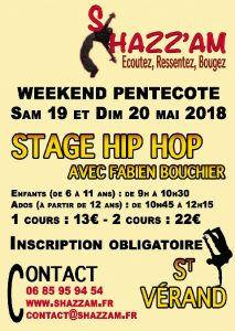 Stage de Hip Hop par Shazz'Am @ Saint-Vérand | Auvergne-Rhône-Alpes | France